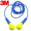 3 M 318-1005 Tampões de Ouvido Tampões Anti-ruído Para Dormir Tampões de Isolamento de Som Com Fio de Alta Qualidade Espuma de Patente