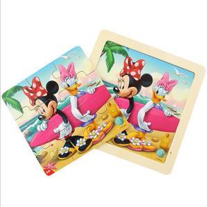 Image 2 - דיסני קפוא מיקי מיני מאוס מודפס פאזל למידה חינוך מעניין צעצועי עץ לילדים ילדי מתנת Brinquedos