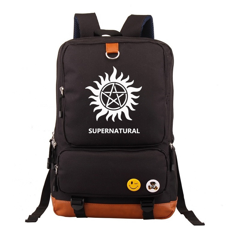TV Show Supernatural SPN Backpack Knapsack Mochila Casual Backpacks Teenagers Men Women's Student School Bags Travel Laptop bag adventure time finn and jake school backpack for children teenagers men women bag mochila laptop knapsack bags