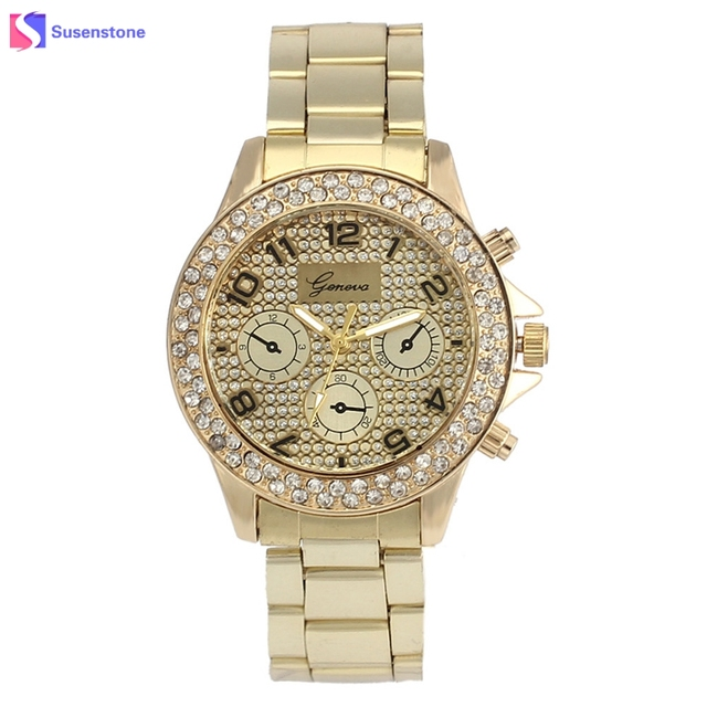fashion ladies rhinestone quartz geneva item crystal genova watches analog brand dress wrist women luxury watch top formal