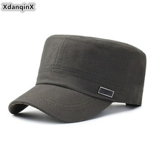 XdanqinX 2019 New Cotton Fashion Army Military Hats For Men Snapback Cap Adjustable Size Retro Adult Mens Flat Caps Dads Hat