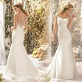 Vestidos de novia 2017 En Stock Nueva Más Tamaño Blanco/Marfil encaje vestido de Novia de La Boda vestido de moda noiva2016 nueva