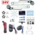 Universal Truck Bus 2-Doors Electric Power Window Kits 3pcs/Set Switches & Wire Harness DC24V #J-3744