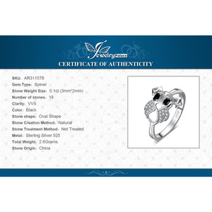 Image 5 - JewelryPalace sznaucer Dog prawdziwa czarna Spinel Ring 925 srebro pierścionki dla kobiet pierścionek do noszenia warstwowego srebra 925 biżuteria