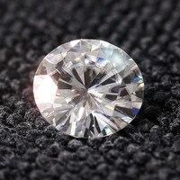 1 карат ct элегантный g-h Цвет круглый Halo Юбилей Обручение Свадебные Муассанит кольцо камень Для женщин подарок Тесты положительный dia Mond