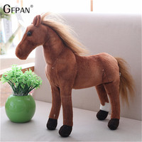 New 75cm Simulation Horse Simulation Stuffed Animal Plush Dolls High Quality Classic Toy Huge Size Magic Gift For Children