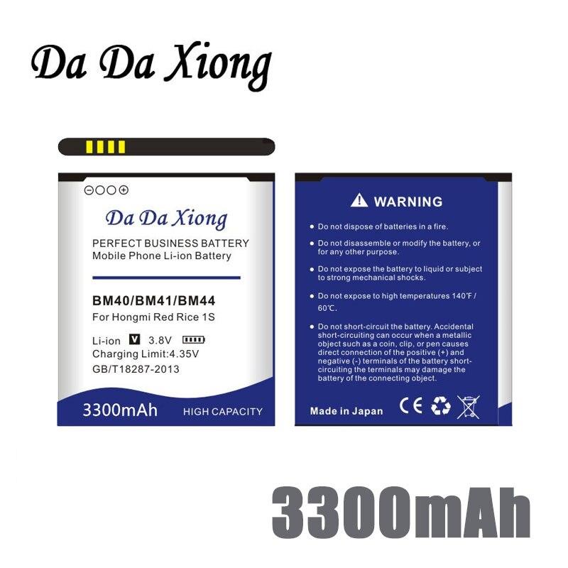 original Da Da Xiong 3300mAh BM40 BM41 BM44 Battery for Xiaomi 2A Mi2A Hongmi Red Rice 1S Redmi 2