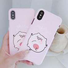 Cartoon Funny Pig Phone Case for iPhone 6 6Plus Korean Style Cover Coque on X iPhone7 6S 8 Plus Funda