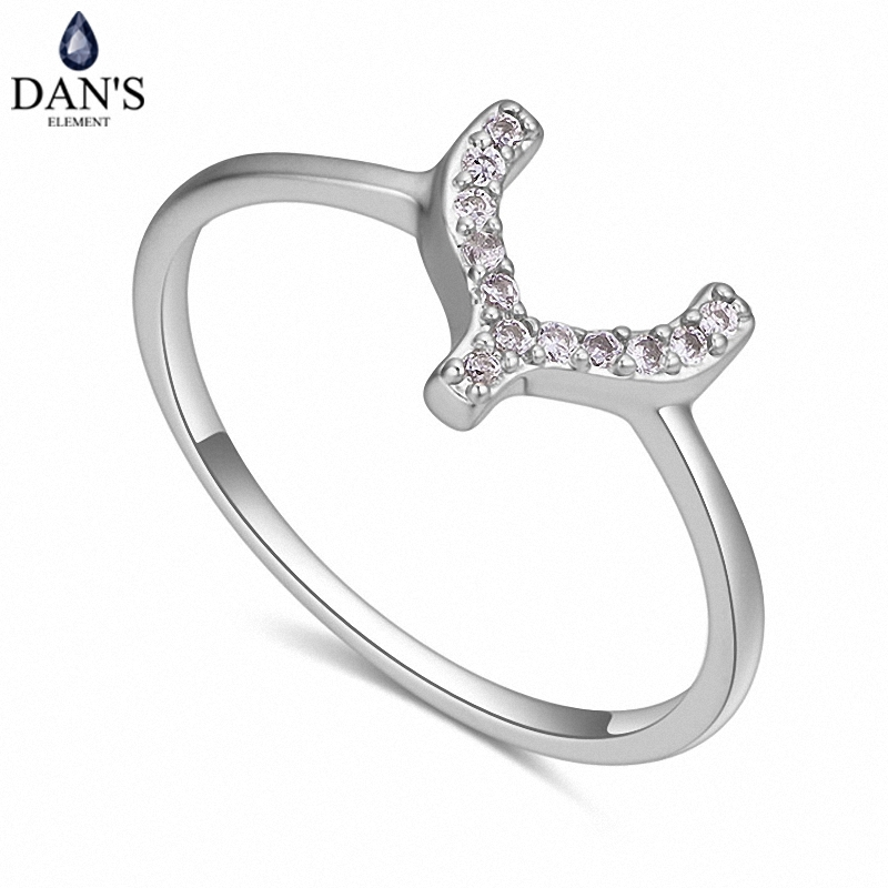 bf6a400936 DAN S Real Austrian Crystals Brand AAA Zirconia Micro Inlays Fashion Ring  for women New Geometric 121486white