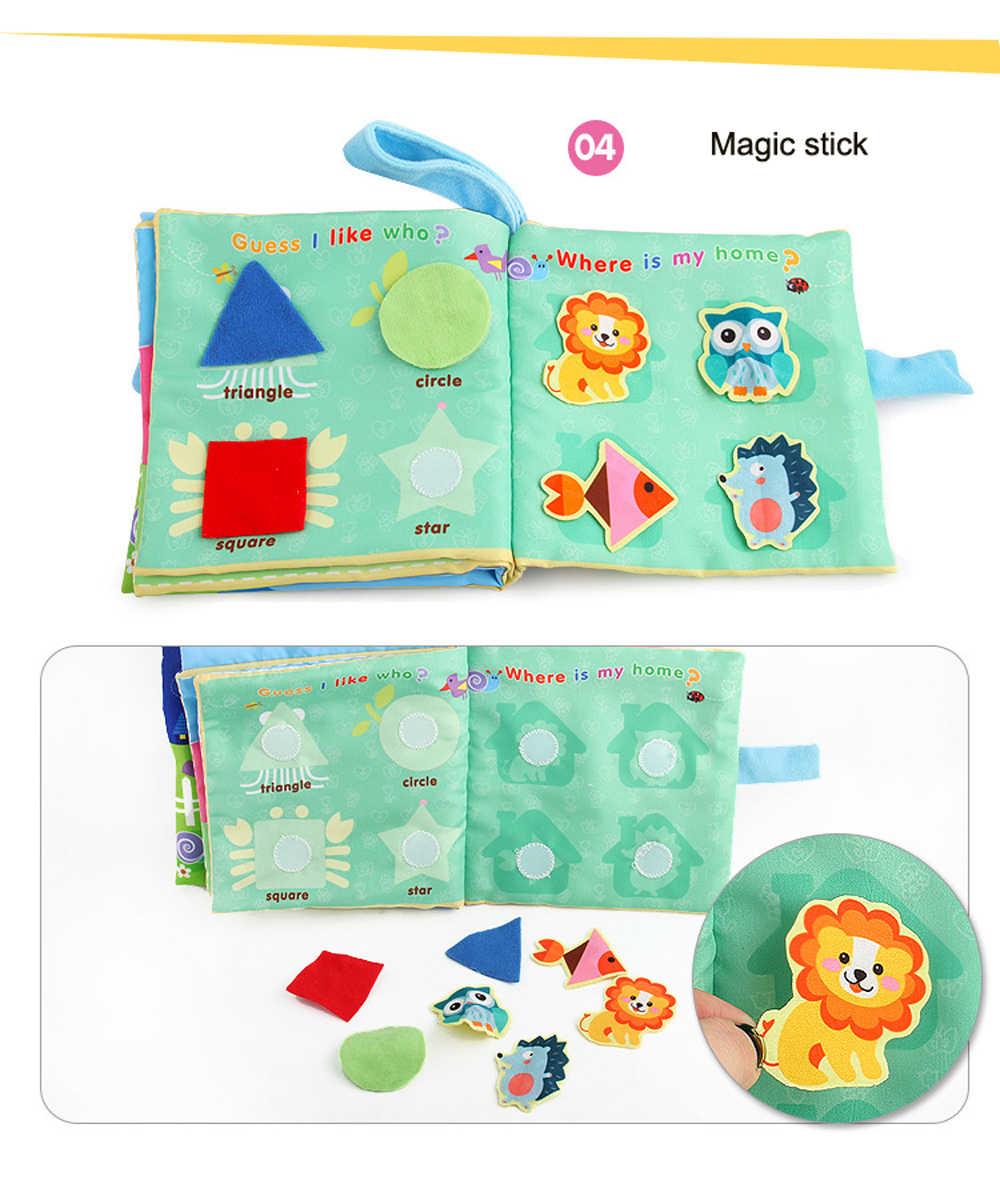 BOLAFYNIA Bebek bebek bezi kitap Ayı Iyi gece İngilizce kitap çocuk Eğitici oyuncaklar
