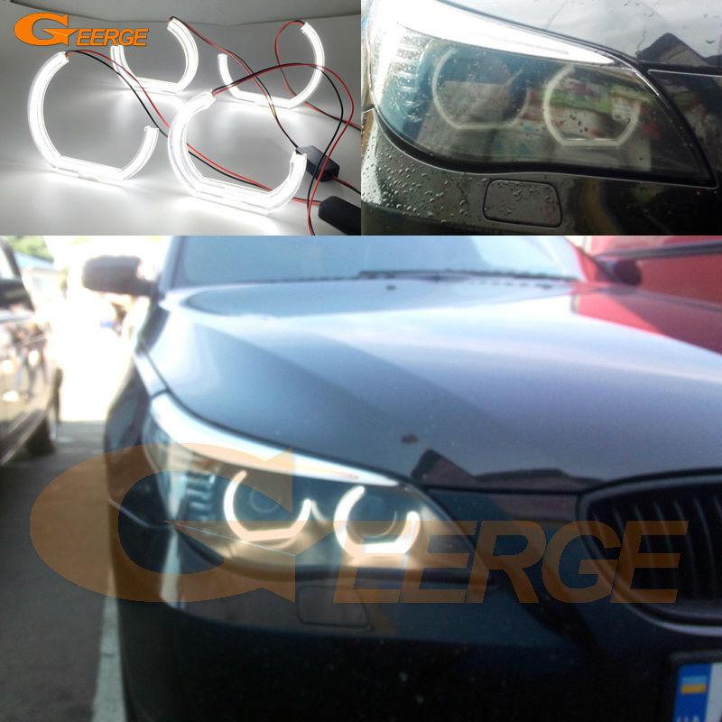 Для BMW 5 серии E60 и E61 525i 528i 530i 545i 550i ЛКИ М5 2007-2010 Ксеноновые фары Ультра яркий М4 ДТМ Стиль из светодиодов Ангел глаза комплект