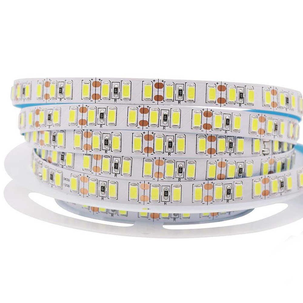 Светодиодный полосы 12 в 1 м, 5 м 600 светодиодный 5630 5730 гибкий свет Водопроницаемый; с высокой яркостью светодиодный лента 4000 k белые украшения для дома освещения