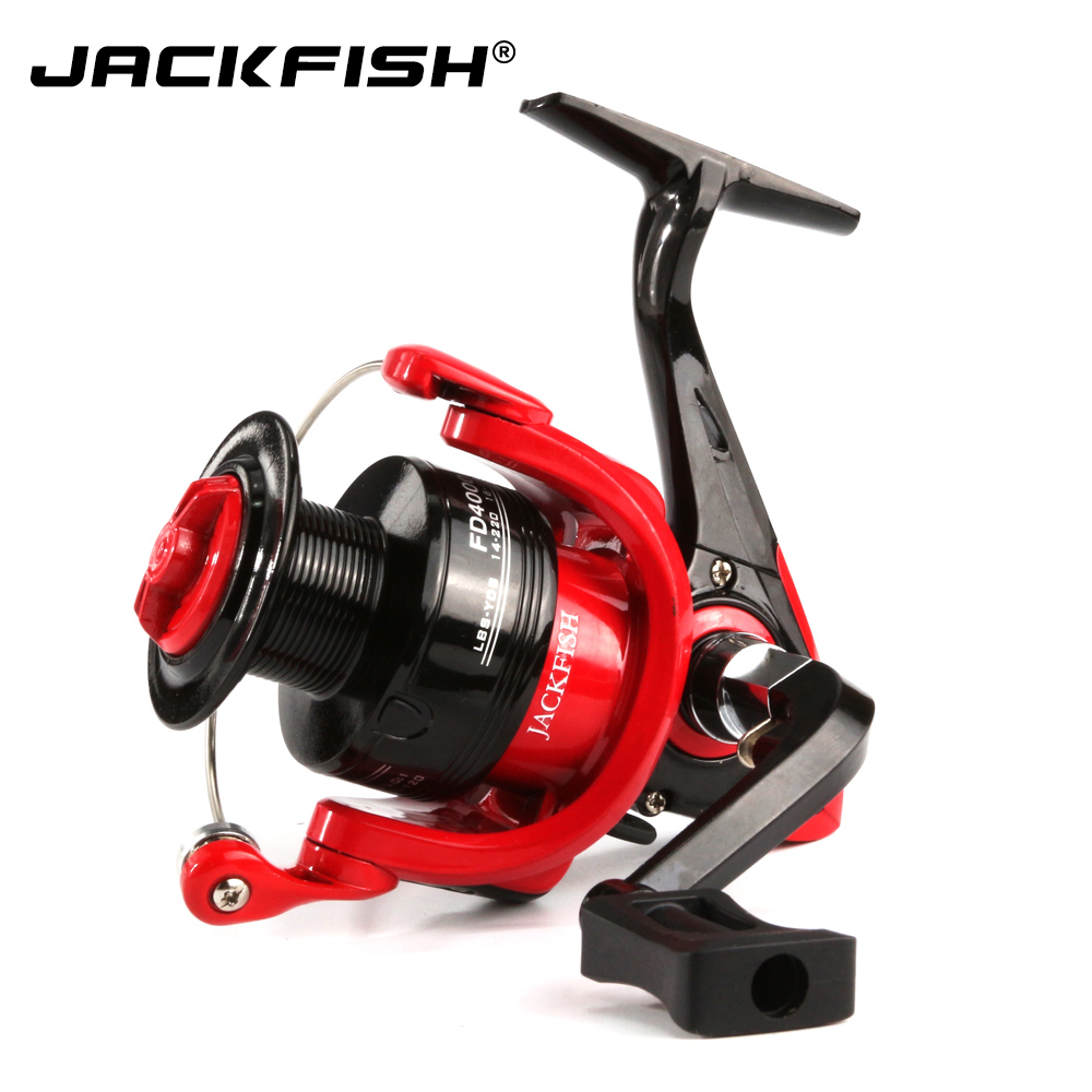 JACKFISH Bobine di Pesca Ad Alta Velocità G-Ratio 5.0: 1 Bait Pieghevole Rocker ruota che gira bobina di pesca carpa molinete de pesca