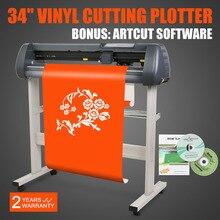 Acessível 34 polegada do cortador do vinil plotter máquina de 870 milímetros de alimentação de papel com suporte