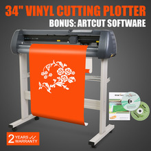 Uygun fiyatlı vinil kesici 34 inç plotter makinesi 870mm kağıt besleme standı ile
