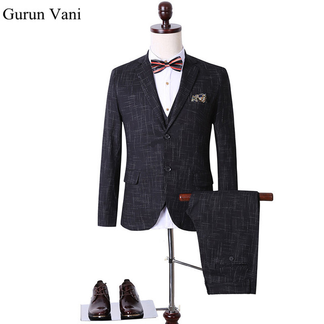 (Jacket+Pant+Vest) Custom Slim Fit Dress Man Business Suit Latest Coat Pant Designs Wedding Suits For Men DHL Free Shipping