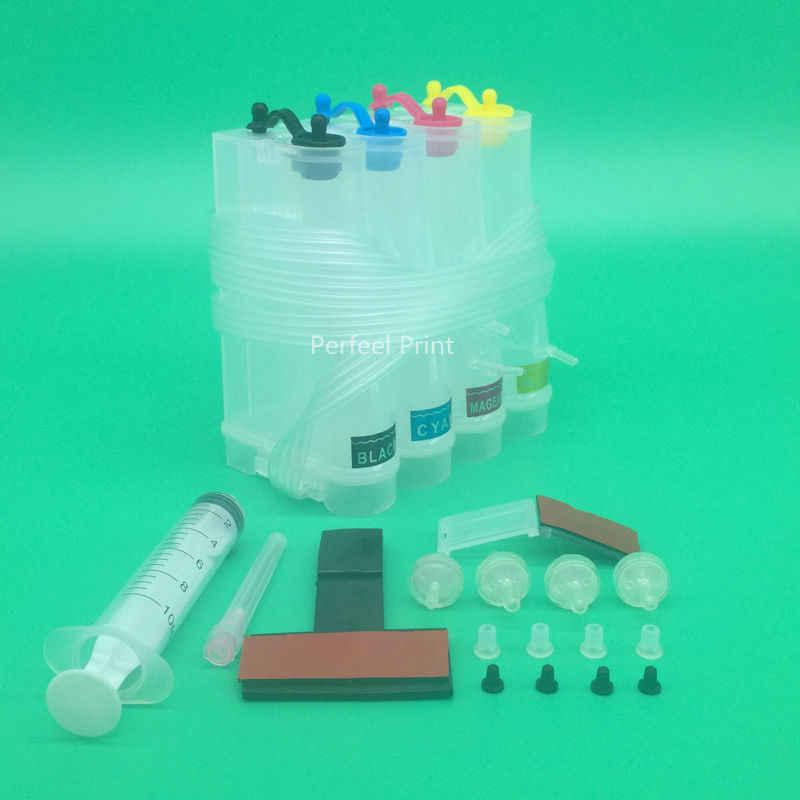 4 צבע DIY האוניברסלי טנק CISS ללא דיו עבור Canon HP Epson אח מדפסת הזרקת דיו עם אביזרים נפוצים