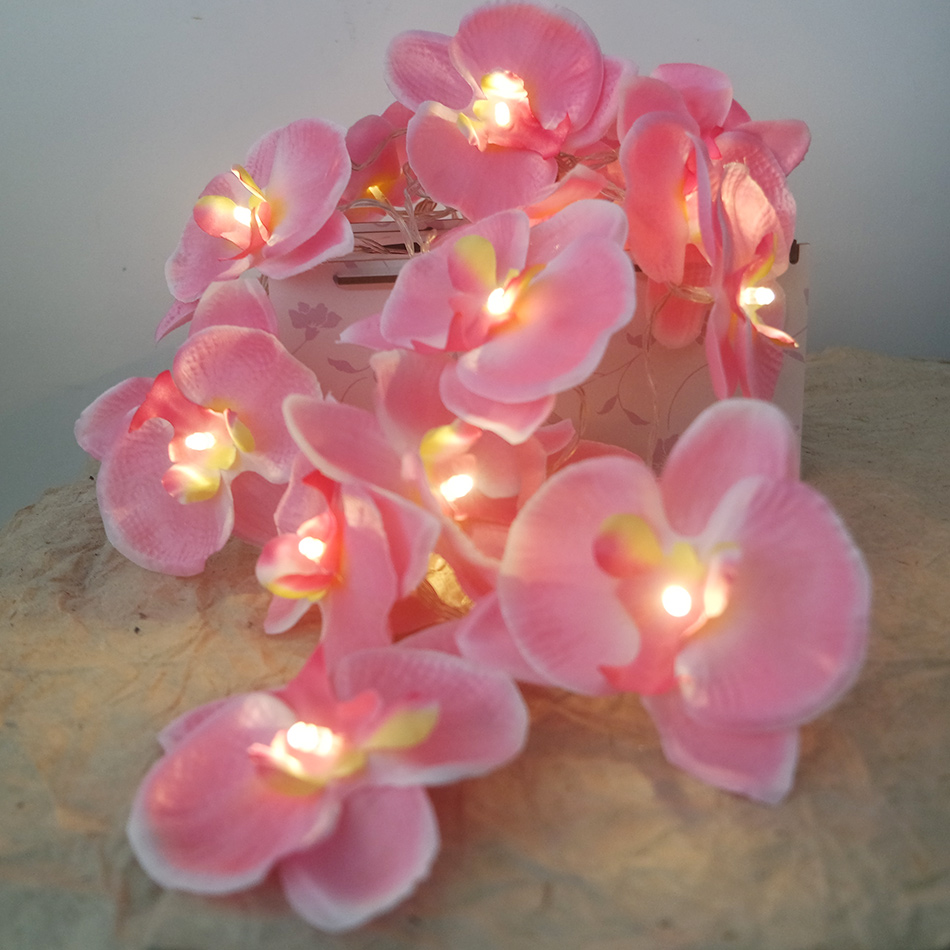 Novelty flower orchid Fairy String Light Leds,4M 20 leds Fashion Holiday Party Garland Decoration,Home Flower Wreath Decorative