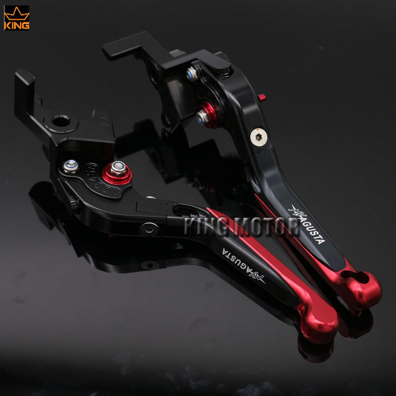 ФОТО For MV AGUSTA Brutale 750 910 989R 1078RR Motorcycle Accessories Adjustable Folding Extendable Brake Clutch Levers Black+Red