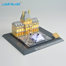 Lightaling LED Light Kit for Louvre Compatible with Famous Brand 21024 Building Blocks Bricks Lighting Set USB Charge lightaling led light set for famous brand 10182 15002 make