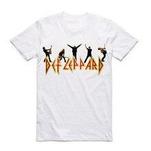 Def Leppard Heavy Metal Rock Band Men's T-shirt Rock N roll Streetwear Short Sleeve Men T Shirt Summer Printed O Neck Clothing