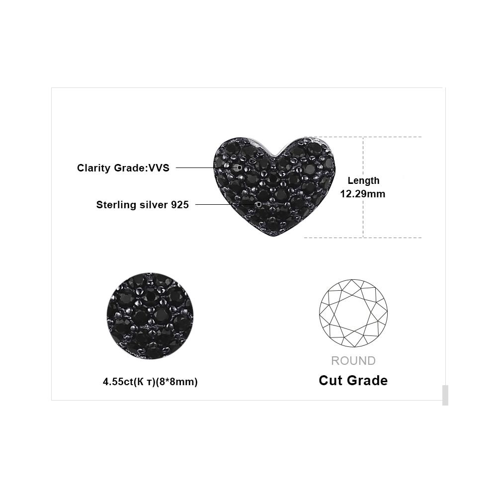 JewelryPalace Fashion 0.29ct natuurlijke zwarte Spinel Love Heart - Fijne sieraden - Foto 5