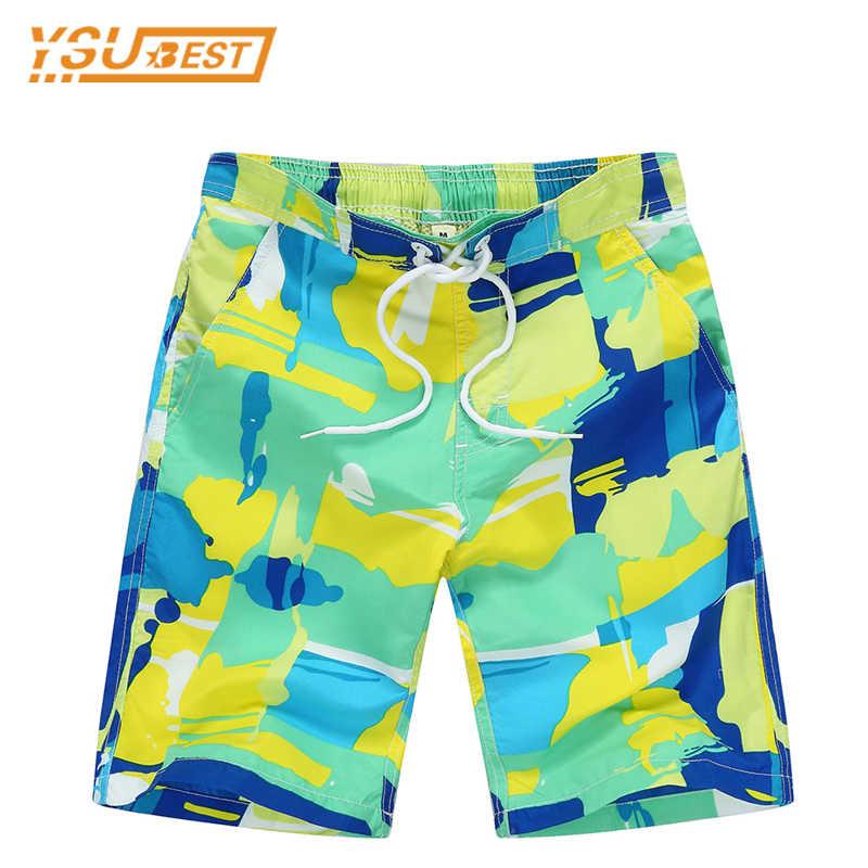 9955aff455 New 2018 Summer Children Beach Shorts 7-14yrs Boys Swim Shorts Surf  Campaign Quick Drying