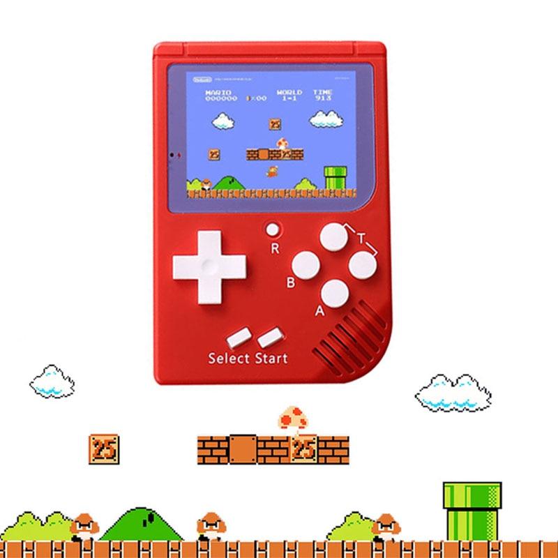 Recargable Mini Retro portátil de mano consola de juego de 8 bits de 2,5 pulgadas LCD en Color de vídeo juego construido en la batería de litio