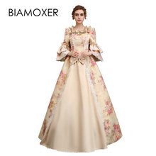 Biamoxer Rétro Victorienne Robe Femmes Médiévale Renaissance Costume robe  de Bal Floral Robe Sur Mesure Taille 71159d43c