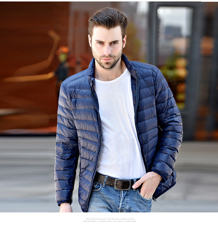 2017 New Brand 90% White Duck Down Jacket Men Autumn Winter Warm Coat Mens Ultralight Duck Down Jacket Male Windproof Jacket