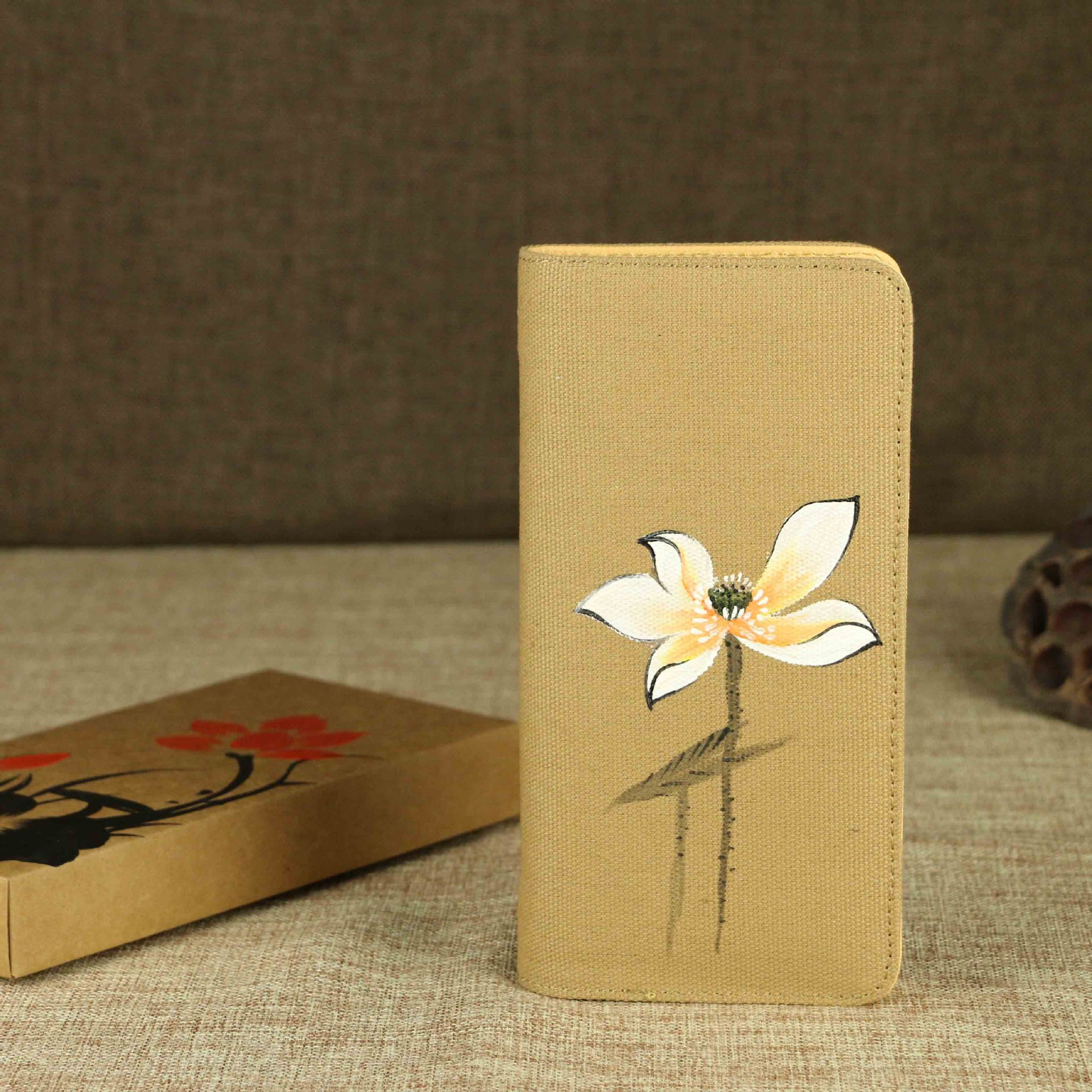 2017 Woman Wallets Purse Retro Hot Travel Painted Folk Style China Wind Original Cotton Fabric Zipper Long Standard Wallets