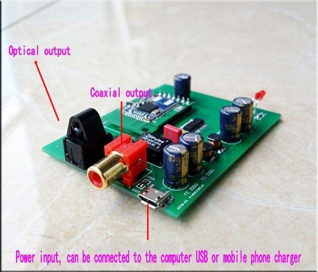 Draadloze Auido Ontvanger Bluetooth 5.0 Aptx Hd CSR8675 Bluetooth Naar Spdif Coaxiale Optische Digitale Interface