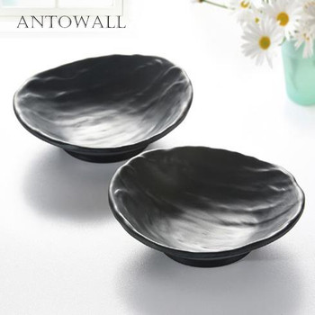 2pc/set oval shape melamine small sauce dish for japanese restaurant camping tableware
