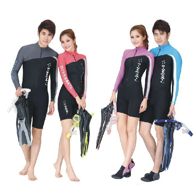 Sun protection clothing Professional Diving suit Long sleeve pants Nylon Lycra swimming suits Body wetsuits for men and women title=