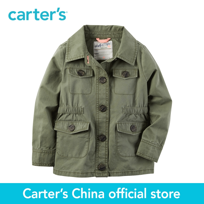 Carter's 1pcs baby children kids Military Jacket 253G834,sold by Carter's China official store carter s 1 pcs baby children kids long sleeve embroidered lace tee 253g688 sold by carter s china official store