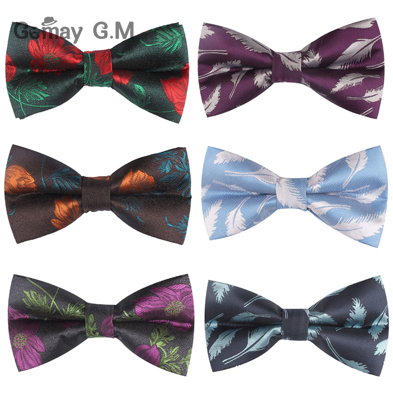 Men Bow Tie Classic Shirts Bowtie For Men Business Wedding Bowknot Adult Floral Bow Ties Butterfly Suits Cravats Bowties