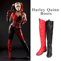 Harley Quinn Cosplay Shoes Batman Arkham Knight Cosplay Boots Game Boots Over Knee Boots Adult Women