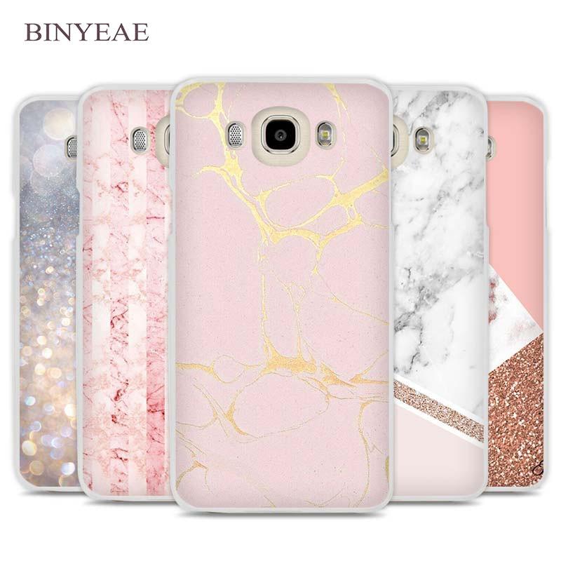 BINYEAE Stalactite Pink Marble glitter Cell Phone Case Cover for Samsung Galaxy J1 J2 J3 J5 J7 C5 C7 C9 E5 E7 2016 2017 Prime