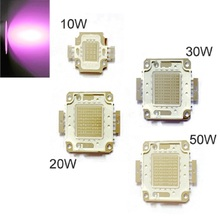10X 20X LED UV Chip COB Bulb Bead Ultra 390-395nm Aquarium 10/20/30/50W Light Purple Full Power Violet