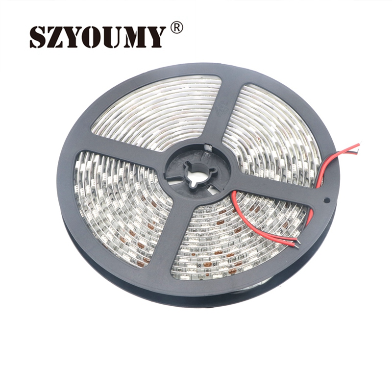 SZYOUMY 100M 300 LED strip 5050 60LED m IP65waterproof IP20no waterproof 12V SMD5050 light cold white