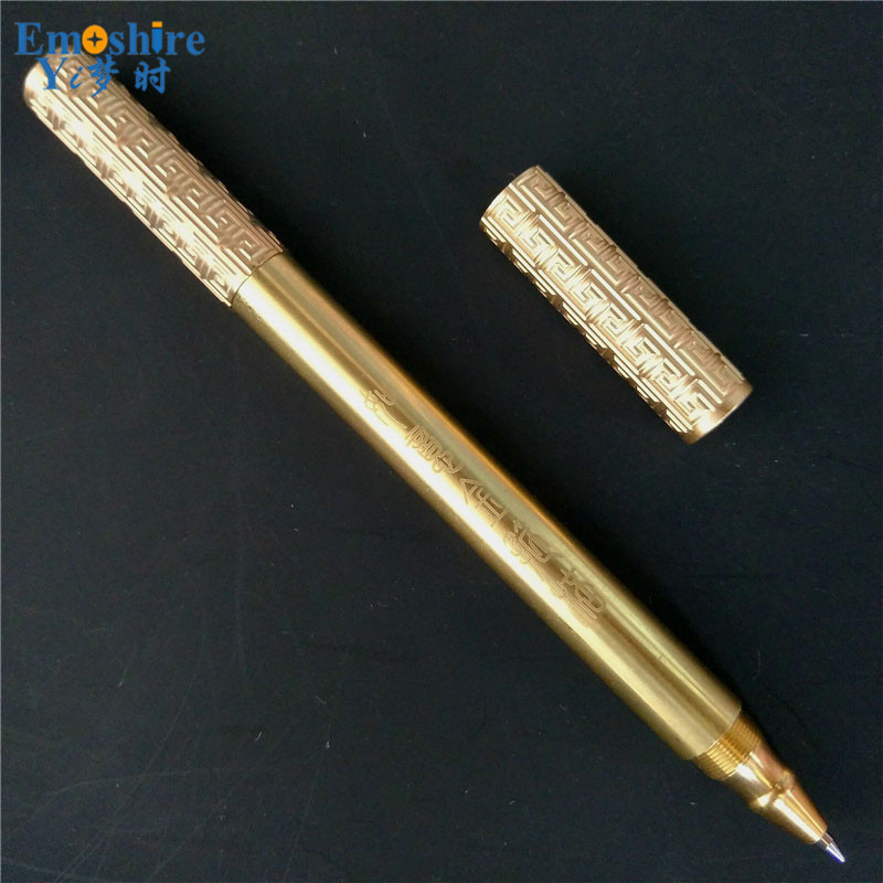 Chinese Legend Retro Bronze Roller Ball Pen Best Gift for Man Wholesale Office Writing OEM Logo Luxury Gold Ballpoint Pen P345 luxury roller ball pen jinhao chinese dragon loong bronze basso relievo medium black leather bag