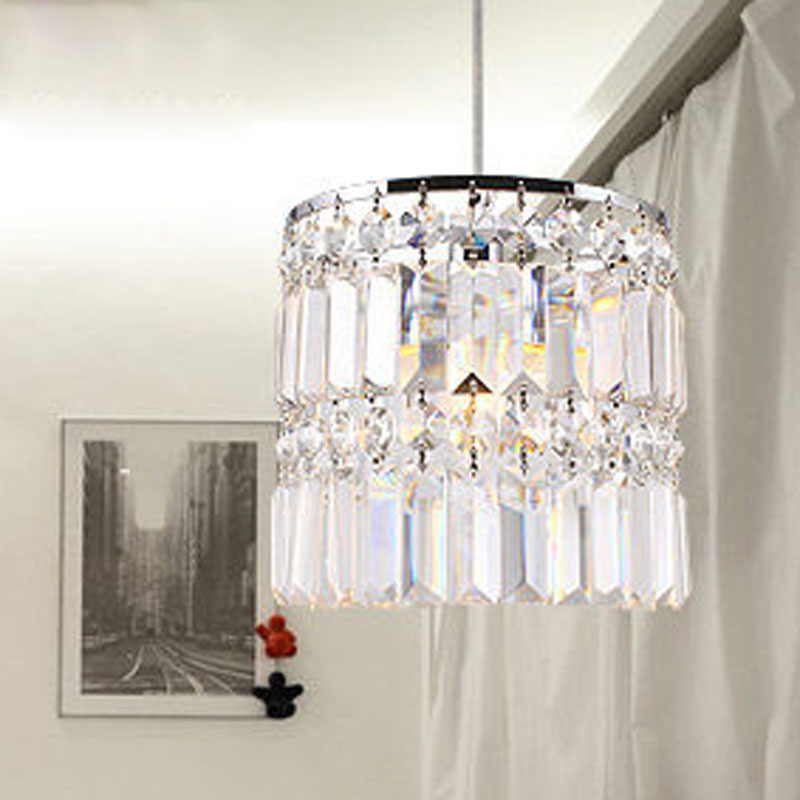 T LED Crystal Pendant Light For Bar Home Livingroom Bedroom Restaurant Aisle Corridor Luxury Modern Lamps Dia20cm DHL Free