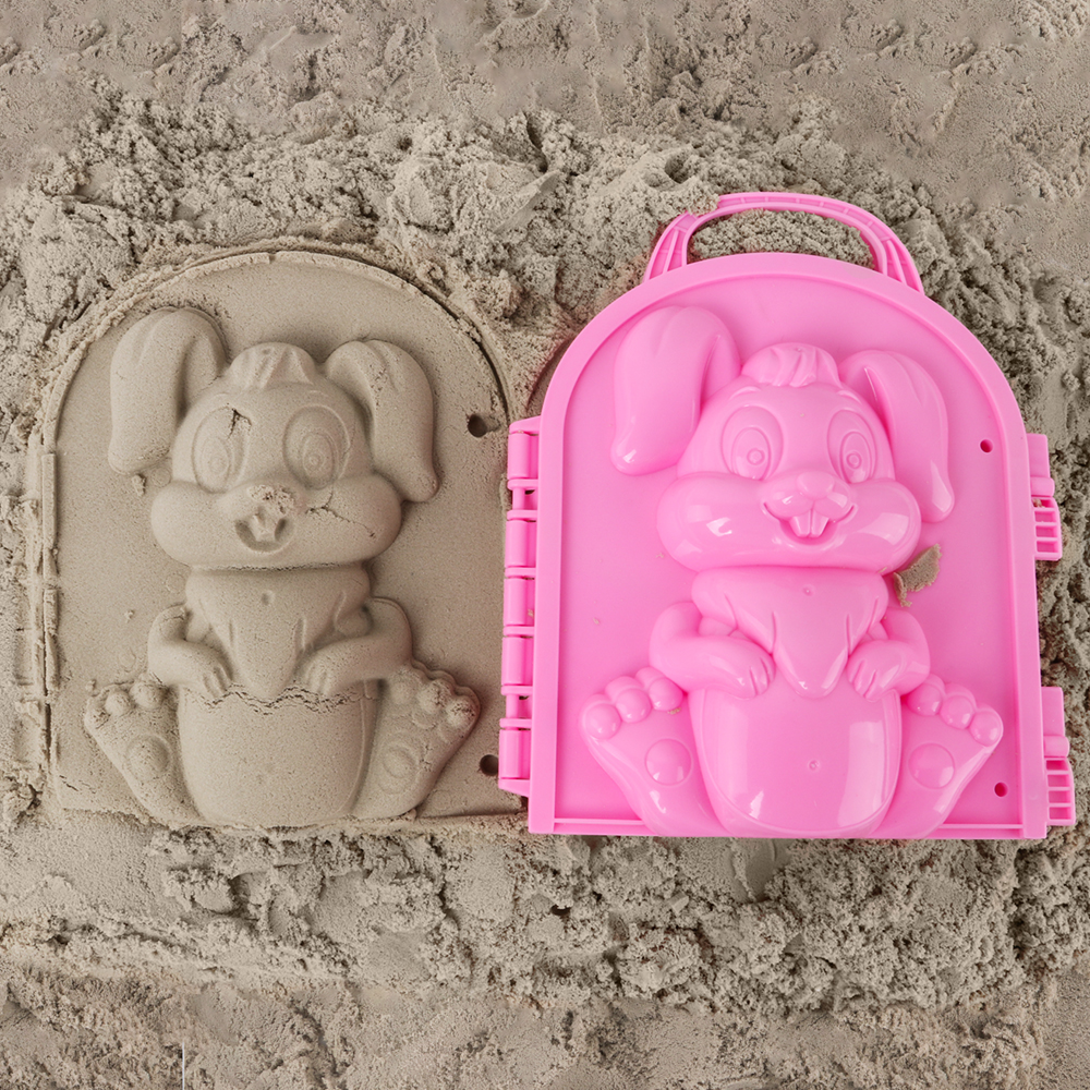 Beach Sand Game 3D Cartoon Mold Beach Snow Sand Model Children's Model Toys Children Outdoor Beach Playset