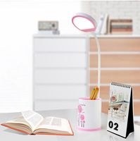 Creative Simple LED Bedroom Work Student Eye Protection Reading Bedside Light USB Charge Flexible Touch Lamp