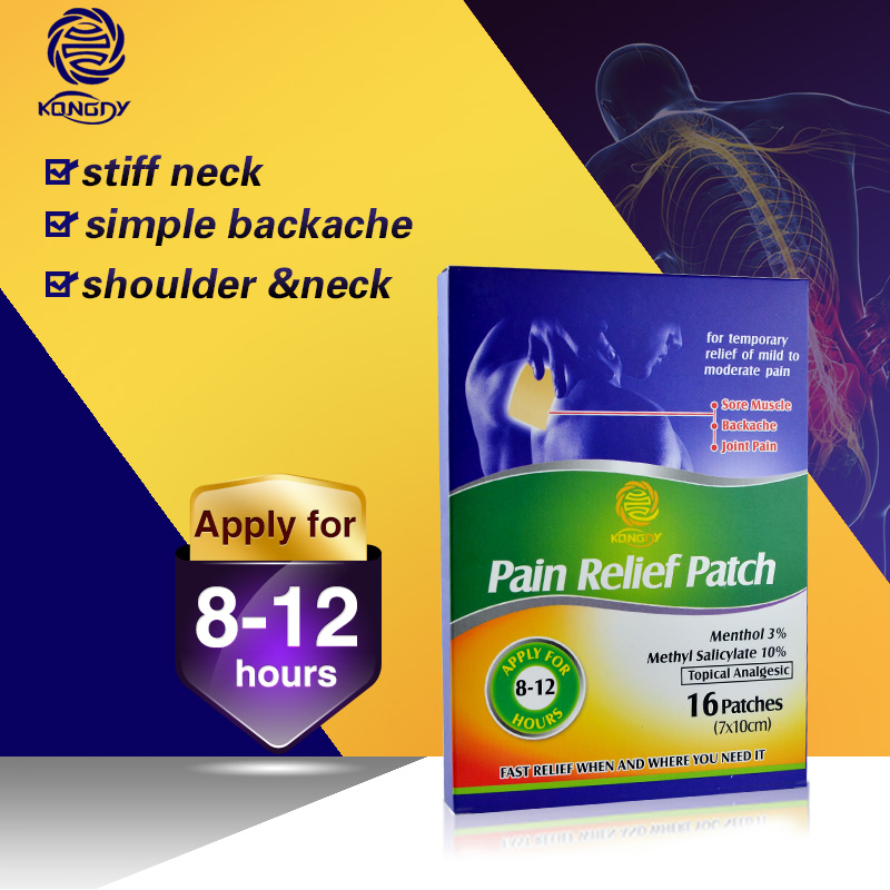 KONGDY Health Care 16 Pieces Medisinsk Pain Relieving Patch 7 * 10 CM Polyester Varmepute Herbal Pain Relief Gips for Ryggsmerter