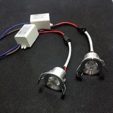 Mini led cabinet light 1W/3W mini led downlight 10pcs/lot AC85-265V Mini led lamp white or Warm white RoHS CE