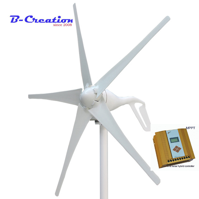 Wind generator 400W 12V DC output with waterproof controller module wind turbine 600w MPPT wind solar hybrid charge controller цена