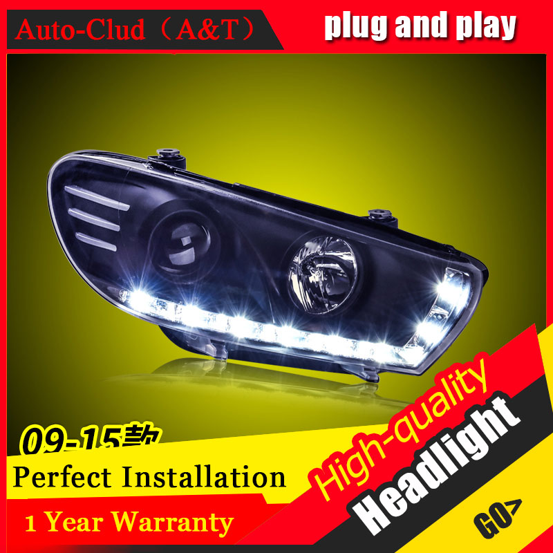 Auto Clud Car Styling For VW Scirocco headlights 09-15 For Scirocco head lamp led DRL front Bi-Xenon Lens Double Beam HID KIT
