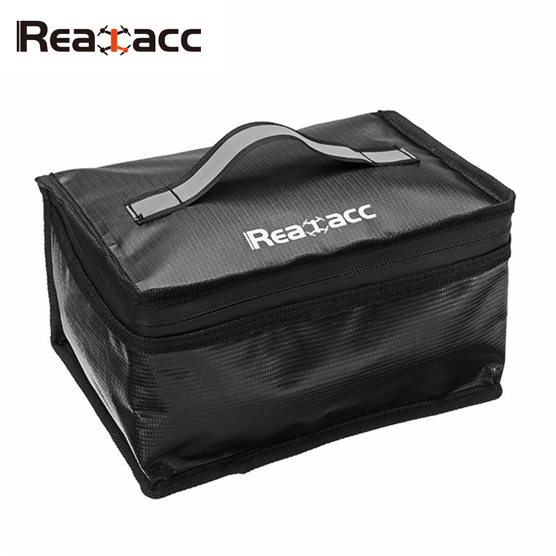 Upgraded Realacc Fireproof Waterproof Lipo Battery Safety Bag With Luminous Handle Boxes for RC Batteria