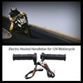 "Universal Motorcycle 7/8"" 22mm Electric Hand Heated Warm handle Grips ATV Warmers Hot Handlebar Grip Adjustable Temperature"